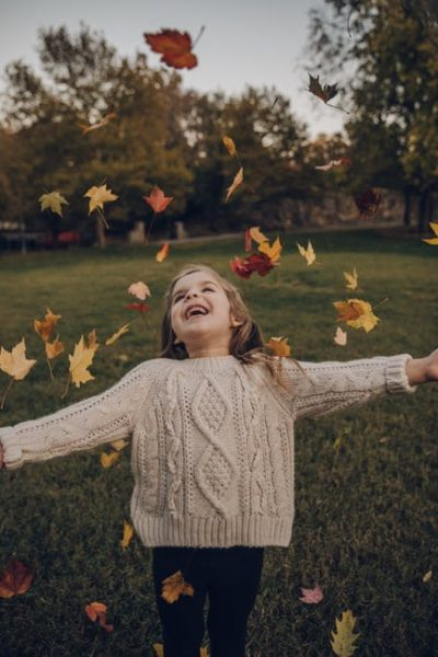mindful child happy and living in the moment