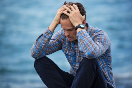 Man feeling depressed and suicidal